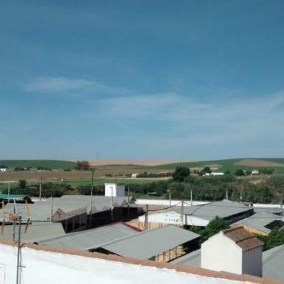 vistas desde la terraza del albergue de peregrinos luz del camino